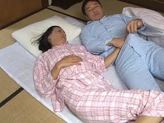 Ayumi Takanashi fucks her husband in evangelist position