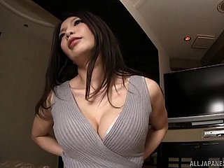 Luscious Japanese chick with the most perfect tits having hardcore sex
