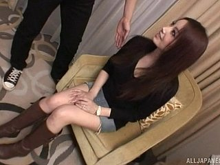 Gorgeous Japanese model screams as the dick enters her depths