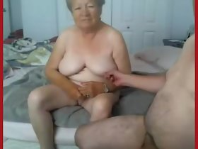 Granny added to grandpa naked on cam