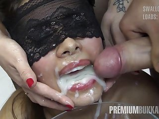 Munificence Bukkake - Victoria swallows 81 big snack cumloads