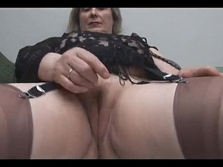 Granny in Stockings Removes Panties for Pigeon-holing